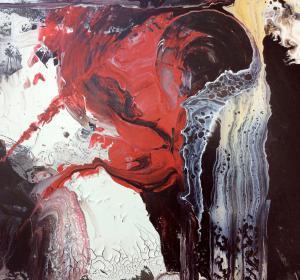 Abstrakt mit Rot→