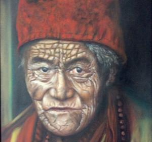 Tibetanischer Mönch→